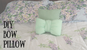 DIY Bow Pillow   Making My Home Happy
