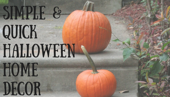 Simple & Quick Budget Friendly Halloween Home Decor | Making My Home Happy
